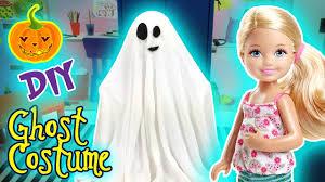 diy halloween ghost costume tutorial for doll barbie chelsea