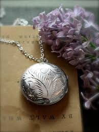 round locket necklace images Round locket necklace sterling silver from tforedgar on etsy jpg