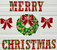 holiday garage door decorations that are magnetic