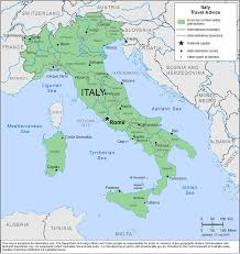 Italy Time Zone Map by Smartraveller Gov Au Italy