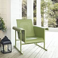 Griffith Metal Outdoor Furniture by Amazon Com Crosley Furniture Veranda Metal Outdoor Single Glider