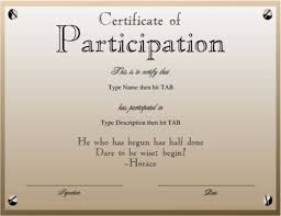 design of certificate of participation free certificate templates