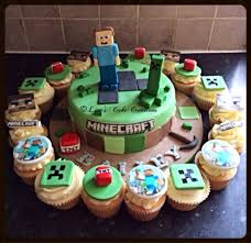 minecraft cake and cupcakes cake decorator bradford cakes