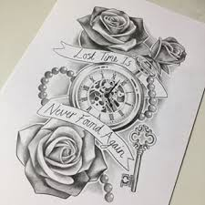 clock tattoo drawing google keresés clock pinterest clocks