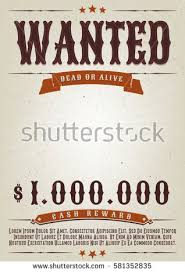 wanted western movie poster illustration vintage old stock vector