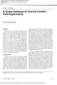 global database of thermal comfort field experiments pdf download