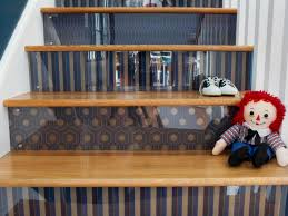 How To Decorate A Living Room by How To Step Up Your Stair Risers With Wallpaper Hgtv
