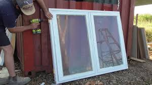 window installation shipping container project build part 3 youtube