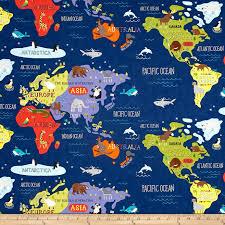 africa map fabric moda hello world map navy discount designer fabric fabric