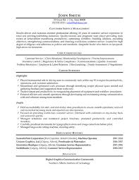 customer service resumes a resume template for a customer service manager you can