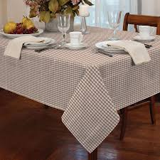 tablecloth for 54x54 table gingham check beige white square 54x54 137x137cm table cloth ebay
