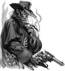 skeleton with gun tattoo design hm art u0026 tattoo