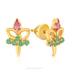 malabar earrings gold earrings from malabar gold diamonds south india jewels