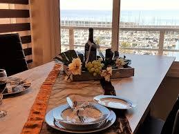 cuisine satellite marina port apartment sea view terrace
