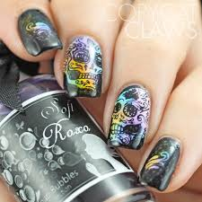 copycat claws uberchic beauty sugar skulls 01 stamping plate review