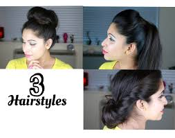 Easy On The Go Hairstyles by How To 3 Simple Quick And Easy Hairstyles Kim Kardashian Sleek