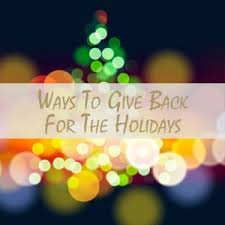 simple ways to give back during the holidays
