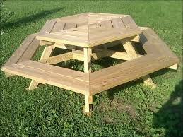 exteriors octagonal wooden garden table picnic table