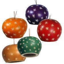 gourd ornaments with small designs fair trade handmade