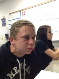 Funny Girl Face Meme - trying to hold a fart next to a cute girl in class know your meme