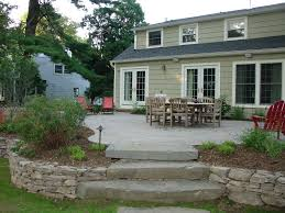 Backyard Stone Patio Designs by Decor U0026 Tips Paver Patio Cost And Concrete Patio Ideas With