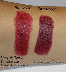 Black Tie Stand Mixer Lipstick Queen Velvet Lipstick In Black Tie And Entourage Are