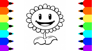 paint colouring pages for kids how to draw sunflower from plants