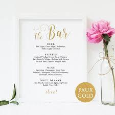 wedding drink menu template bar menu sign wedding bar menu template wedding drinks menu