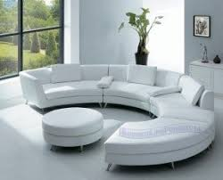 Sofa Curved Curved Leather Couches Foter