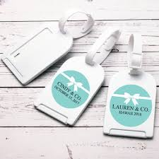 luggage tag favors blue personalized luggage tag favor co wedding