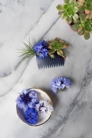 flower hair diy modern floral hair comb design sponge