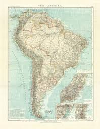 south america map buy map of the south america in 1905 buy vintage map replica
