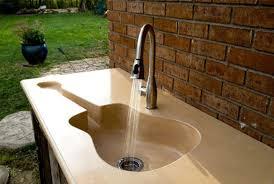 guitar shape outdoor kitchen sink convenience outdoor kitchen