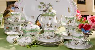Coffee Set coffee set for 6 persons rothschild bird green fish scale herend