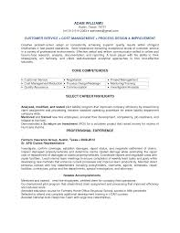 Customer Service Sample Resumes by Customer Service Representative Resume Sample Free Resume
