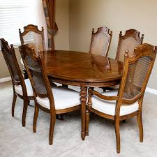 Drexel Heritage Dining Room Set Drexel Heritage Dining Table And Chairs Ebth