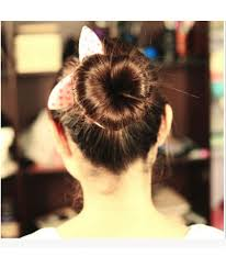 donut bun hair on sale new heart sponge hair styling donut bun maker ring