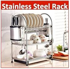 2 tier cabinet organizer 3 tier kitchen cabinet organizer stainless steel dish rack ready
