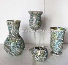 Mosiac Vase Tall Fashionable Silver Mirror Glass Mosaic Vase Buy Glass