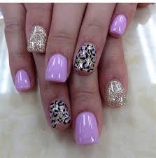 pink gold with cheetah print nail gallery