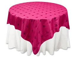 fuschia pink table cloth ya ya bejeweled sequin overlay 72 x 72 overlays