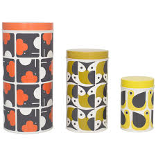 buy orla kiely canisters set of 3 online at johnlewis com retro