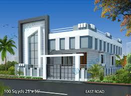 way2nirman 100 sq yds 25x36 sq ft east face house 2bhk isometric