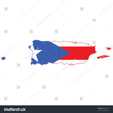 Maps Of Puerto Rico by Flag Map Puerto Rico Stock Vector 464222591 Shutterstock