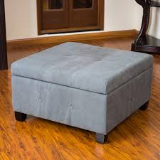 tufted ottoman coffee table leather avalon fabric thippo