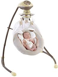 portable baby swing with lights home best baby swing