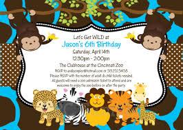 jungle animals birthday invitation jungle by cutiestiedyeboutique