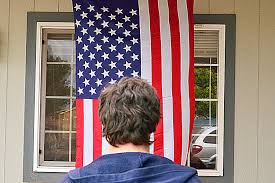 Hanging Pictures by How To Hang An American Flag Vertically Our Everyday Life