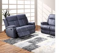 canap deux places relax canapé relax électrique en tissu bleu hcommehome