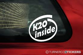 jdm honda sticker k20 inside sticker for honda civic type r ep integra dc5 accord